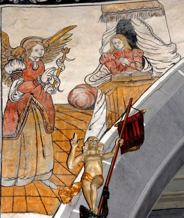 Die Wandmalereien Geburt Und Taufe Jesu